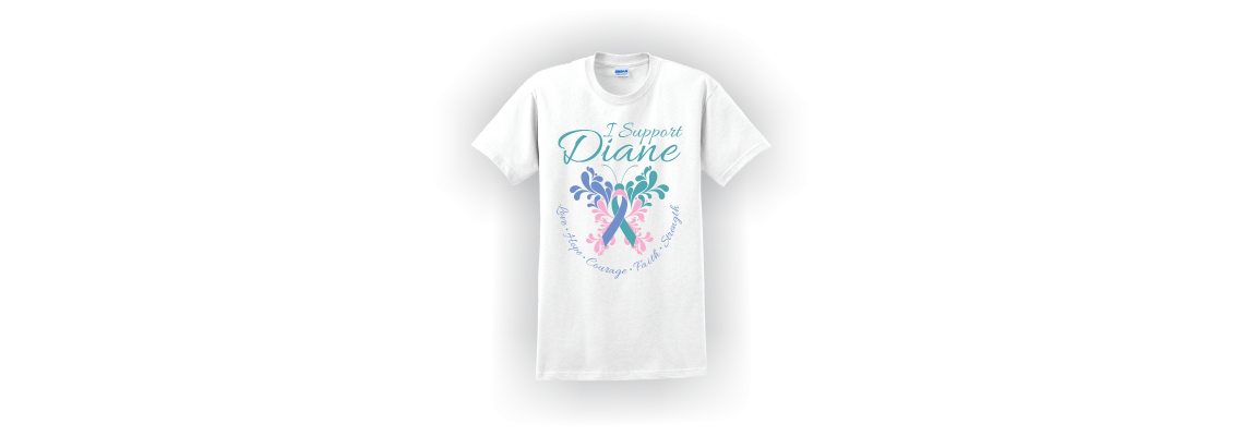 I Support Diane Butterfly White T-Shirt