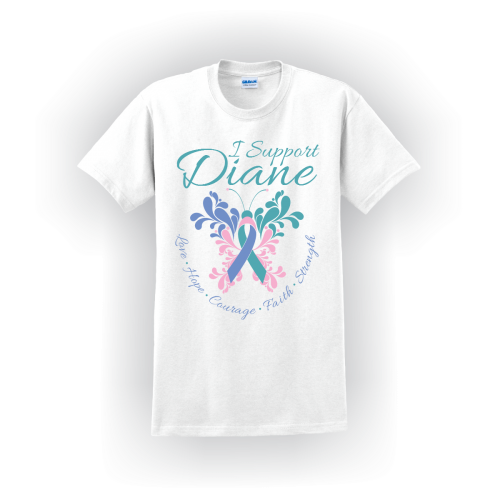 I Support Diane Butterfly T-Shirt