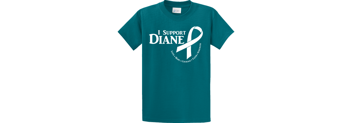 I Support Diane Butterfly Teal T-Shirt