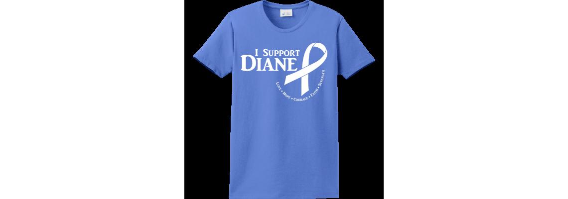 I Support Diane Butterfly Ultramariane-Blue T-Shirt